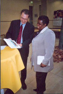 Karl Doemens and the Southern African representative Nomasonto Mary Sibanda-Thusi